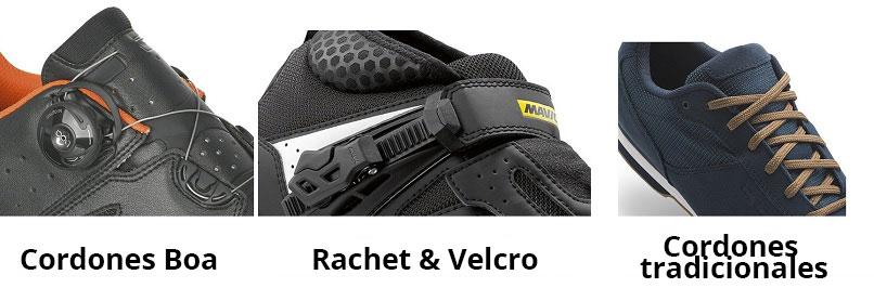 sistema sujeción zapato MTBc