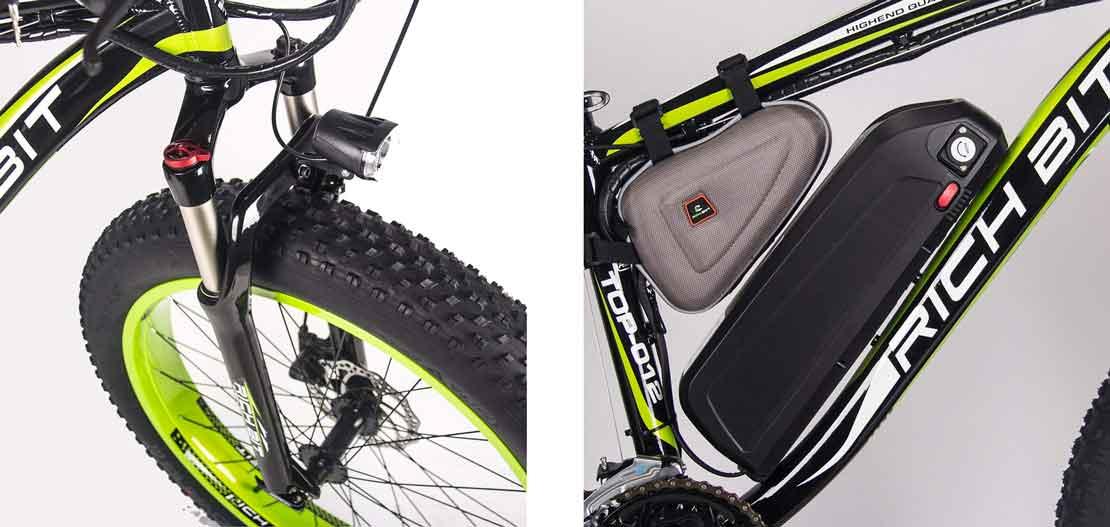 detalle de la rueda de bici