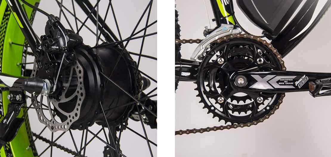 detalle llantas bici