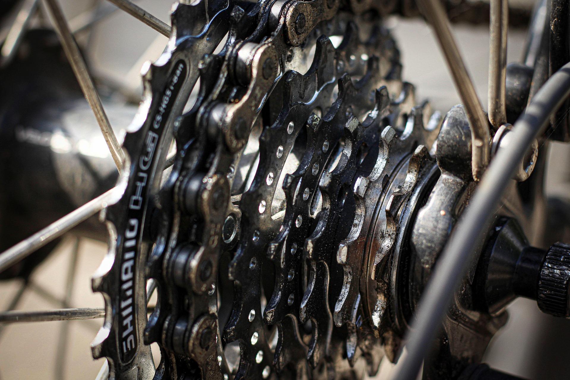 Discos de una bicicleta bien limpios