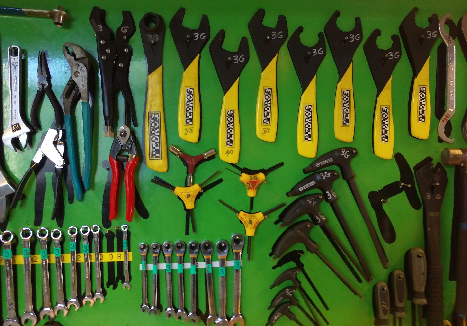 Herramientas para hacer el mantenimiento bicicletas